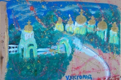 -cattedrali- acrilico su cartone cm.45X61 anno 2012