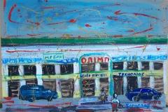 -centro commerciale-acrilico su cartone cm.45X61 anno 2012