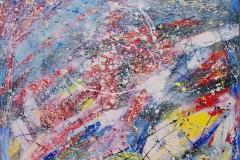 -il rumore del colore-acrilico su tela,cm.150X150-2013