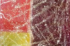 Tramonto Confuso cm 100X102 acrilici su stoffa 2016