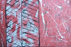 clausura-acrilico su tela cm58X59 anno 2014